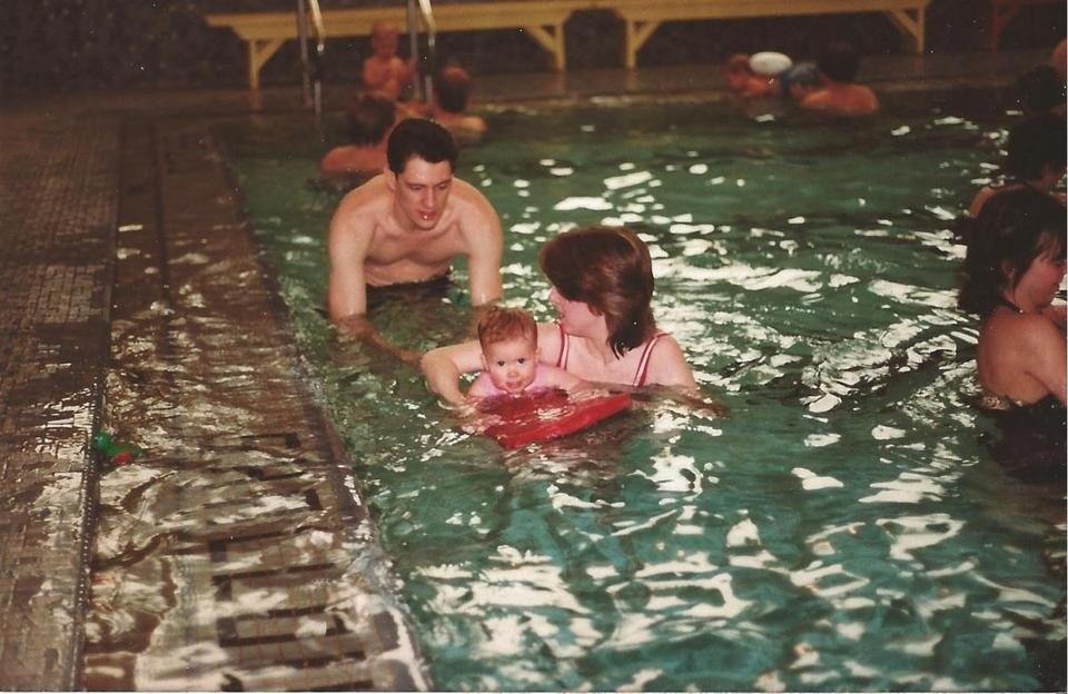 Cara Linehan Buckwell learned to swim as a baby with her parents, Ann and Jim Linehan